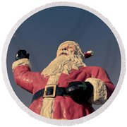 Fiberglass Santa Claus Round Beach Towel