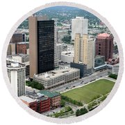 Fiberglass Tower Toledo Ohio Round Beach Towel