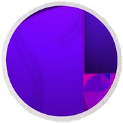 Fibonacci Blue Round Beach Towel