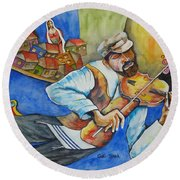 Fiddler On The Roofs Round Beach Towel