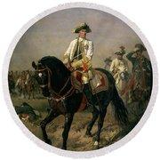 Field Marshal Baron Ernst Von Laudon 1717-90, General In The Seven Years War And War Of Bavarian Round Beach Towel