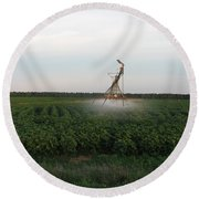 Field Monster Round Beach Towel