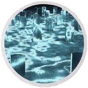 Field Of Lost Spirits Round Beach Towel