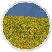Field Of Mustard Round Beach Towel