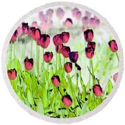 Field Of Tulips - Photopower 1492 Round Beach Towel