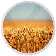 Field Of Wheat Round Beach Towel