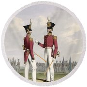 Field Officers Of The Royal Marines Round Beach Towel