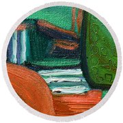 Fields Afar Round Beach Towel