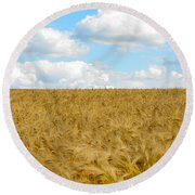 Fields Of Wheat Round Beach Towel