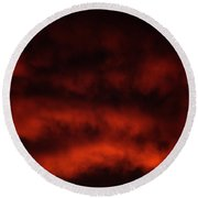 Fiery Round Beach Towel
