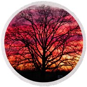 Fiery Oak Round Beach Towel