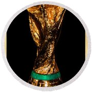 Fifa World Cup Trophy Round Beach Towel