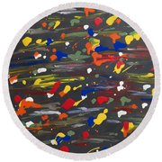 Fifth Element Of Life Round Beach Towel