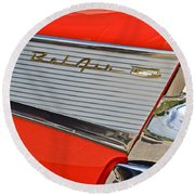 Fifty Seven Chevy Bel Air Round Beach Towel