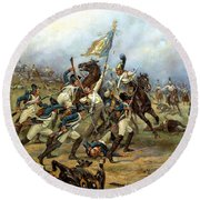Fight For The Banner Round Beach Towel