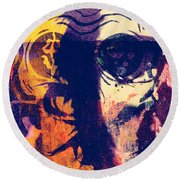 Fight The Demons  Round Beach Towel