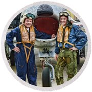 Fighter Pilots Round Beach Towel