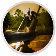 Fighting For Freedom Round Beach Towel