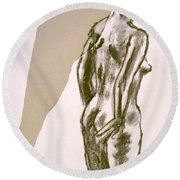 Figure Collage Round Beach Towel