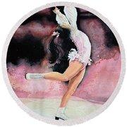 Figure Skater 20 Round Beach Towel by Hanne Lore Koehler