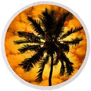 Fijian Sunset Round Beach Towel
