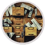 Filing System Round Beach Towel