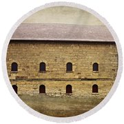 Filley Stone Barn South Side Round Beach Towel