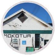 Filling Station, Mokotua, The Catlins Round Beach Towel