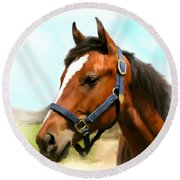 Filly Round Beach Towel