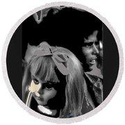 Film Homage Collage Brothers Quay Street Of Crocodiles Black Girl Doll Tucson Arizona 1970-2011 Round Beach Towel
