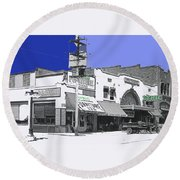 Film Homage Director Allan Dwan Soldiers Of Fortune 1919 Lyric Theater Tucson Arizona 1919-2008  Round Beach Towel