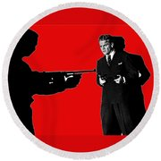 Film Homage James Cagney Angels With Dirty Faces 1939-2014 Round Beach Towel