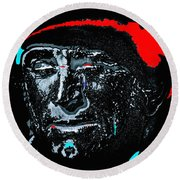 Film Homage  Kirk Douglas  Lust For Life  1956  Old Tucson Arizona 1971-2010 Round Beach Towel