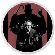 Film Homage Spencer Tracy Dr. Jekyll And Mr. Hyde 1941-2014 Round Beach Towel
