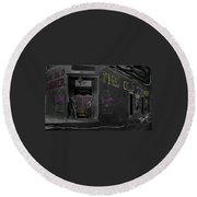 Film Homage The Quiet Man 1952 The Old Corner Saloon  Red Light District Tucson Arizona C.1880-2008  Round Beach Towel
