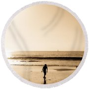Filtered Beach Round Beach Towel