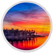 Final Glow Round Beach Towel by Marvin Spates