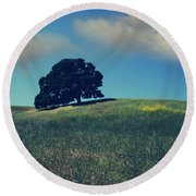 Find It In The Simple Things Round Beach Towel by Laurie Search