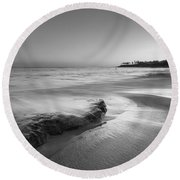 Finding Serenity Bw Round Beach Towel by Michael Ver Sprill