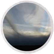 Finger Clouds Round Beach Towel