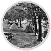 Finger Lakes Camping Round Beach Towel