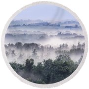 Finger Lakes Morning Round Beach Towel