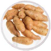 Fingerling Potatoes Round Beach Towel