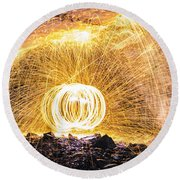 Fire And Ice II Round Beach Towel
