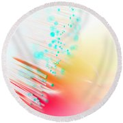 Fire And Light Round Beach Towel