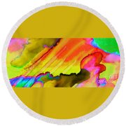 Fire And Water II Round Beach Towel