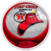 Fire Chief Gasoline Globe Round Beach Towel