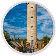 Fire Control Tower No. 23 Round Beach Towel