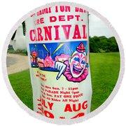 Fire Dept. Carnival Round Beach Towel
