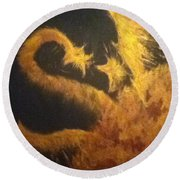 Sun Dragon Round Beach Towel